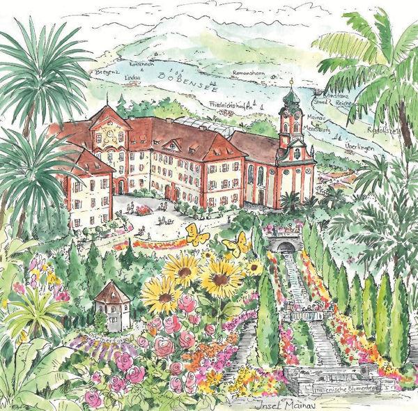 Bild von Serviette-Mainau